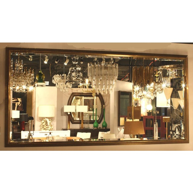 French French Brass Bistro Mirror For Sale - Image 3 of 3