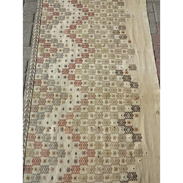 """Mid 20th Century Vintage Turkish Natural Kilim Runner-2'9'x10'11"""" For Sale - Image 5 of 13"""
