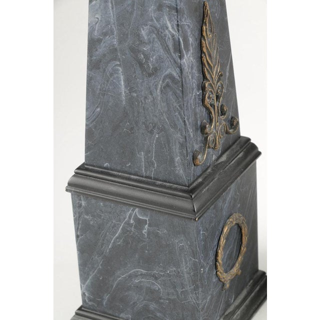 Neoclassical Faux Marble Obelisks- A Pair - Image 7 of 10