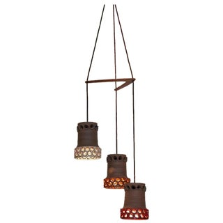 Ceramic Shade Cascade Pendant Lamp, Germany, 1970s For Sale