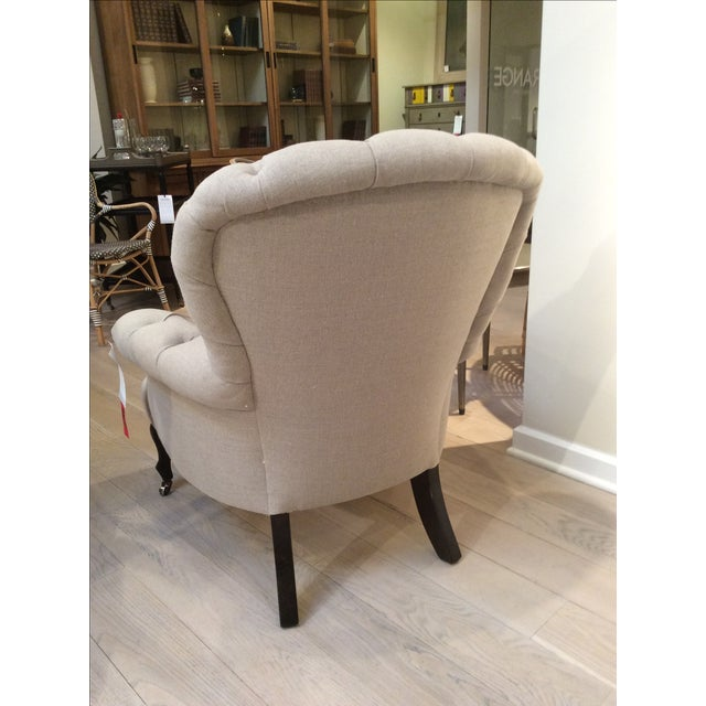 Natural Linen Najac Tufted Armchair - Image 4 of 5