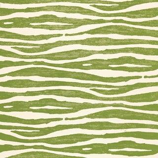 Sample - Schumacher Ripple Wallpaper in Grass For Sale