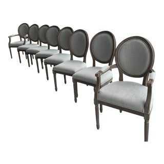 Louis XVI Dining Chairs - Set of 8 For Sale