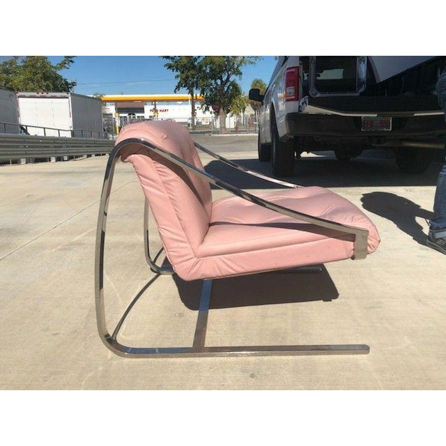 Chrome 1970's Vintage Grasshopper Chrome Steal Lounge Chairs- A Pair For Sale - Image 7 of 11
