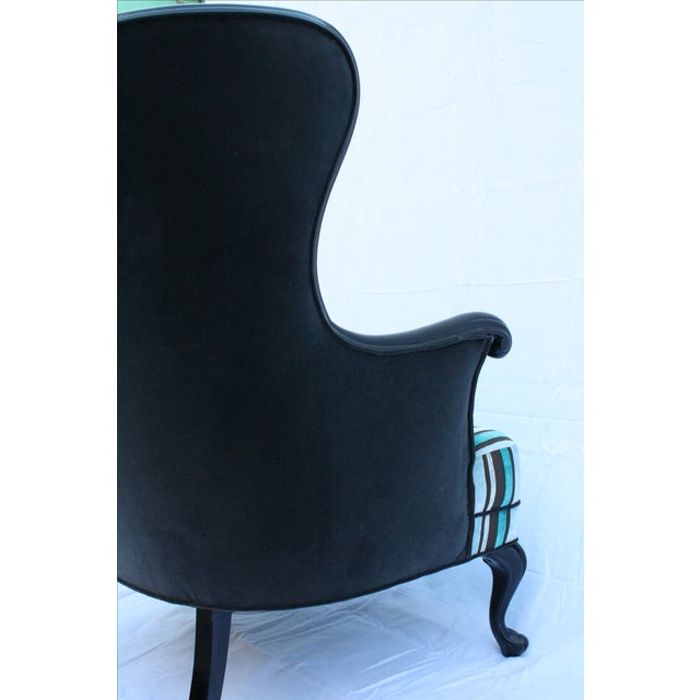 Vintage Round Wing Back Chair - Image 6 of 7