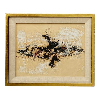 1958 Don Fink (1923-2010) Abstract Painting For Sale