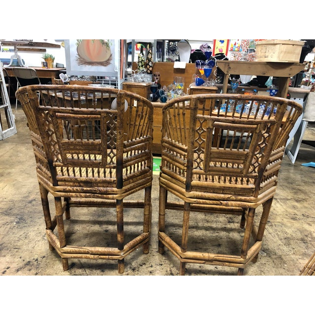 Rare to find a matched PAIR of these lovely chairs. They are vintage from 1970s in original condition. Condition for age...