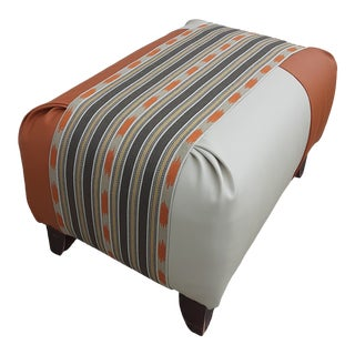Southwest Color-Block Ottoman For Sale