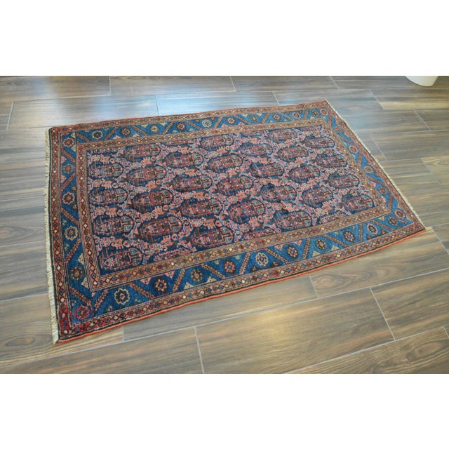 """Paisley Antique Persian Malayer Rug - 3'10"""" X 6'4"""" - Image 3 of 8"""