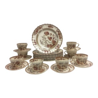 1990s Spode Indian Tree Dinnerware Set of 24 For Sale