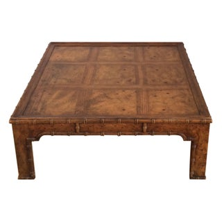 Drexel Heritage Faux Bamboo Coffee Table