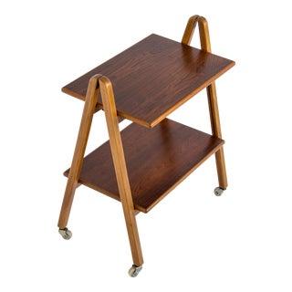 Danish Rosewood Folding Bar Cart
