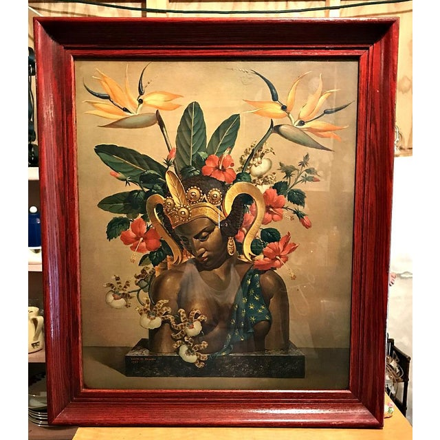 """Cosmo de Salvo Prints """"Tropical Bounty"""" From The 1940's, The mate to this one, Bali Beauties, is sold in another listing...."""
