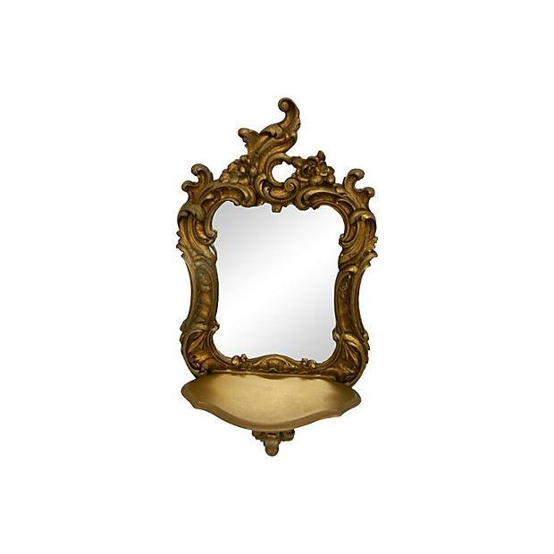 Rococo-Style Shelves Mirrors - A Pair - Image 3 of 4