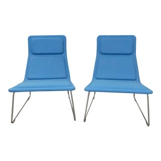 Cappellini Low Pad Lounge Chairs, Designed by Jasper Morrison - a Pair For Sale