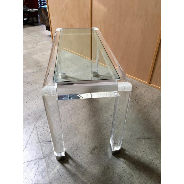 20th Century Lucite Console Table For Sale In Los Angeles - Image 6 of 13