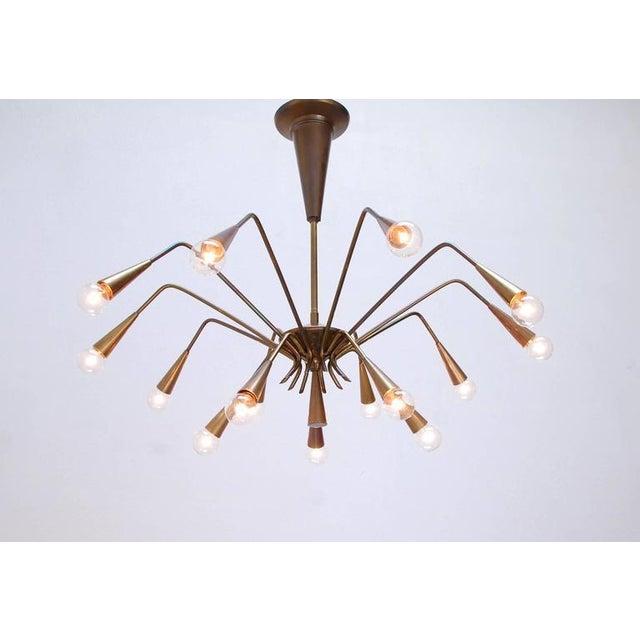 Mid-Century Modern Sputnik Chandelier by Lumi For Sale - Image 3 of 10