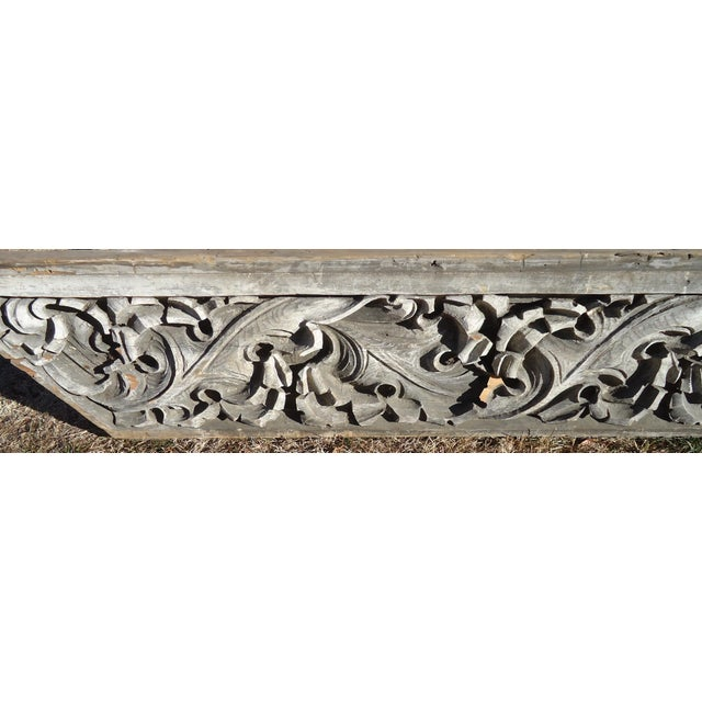 Acanthus Leaf Carved Wood Pediment - Image 8 of 11
