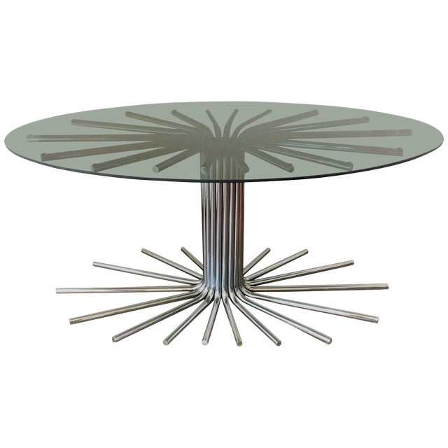 1950s Italian Fume' Glass Top Dining Table in the Manner Gastone Rinaldi For Sale