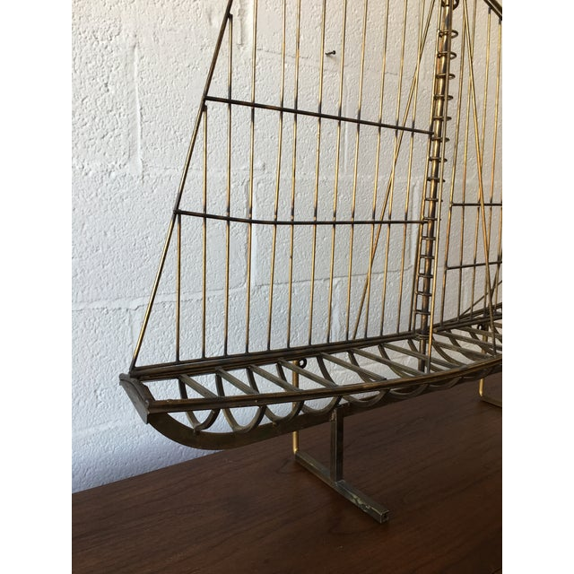 C.Jere Brass Schooner Ship Sculpture For Sale - Image 10 of 11