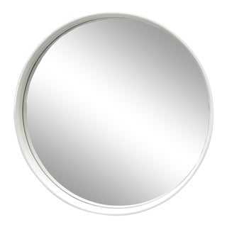 Round White Bentwood Wall Mirror For Sale