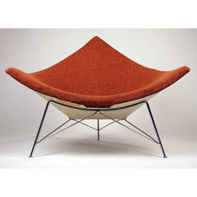 Metal Museum Quality Early Coconut Chair & Ottoman by George Nelson for Herman Miller For Sale - Image 7 of 10