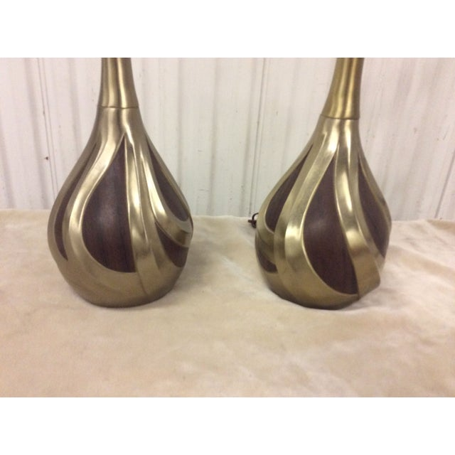 Mid-Century Modern Laurel Mid-Century Modern Brass Lamps For Sale - Image 3 of 7