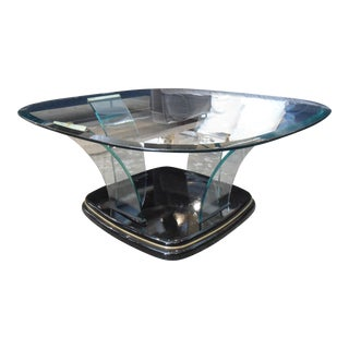 Art Deco Style Glass Coffee Table