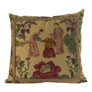Chinoiserie Down Filled Accent Pillow For Sale