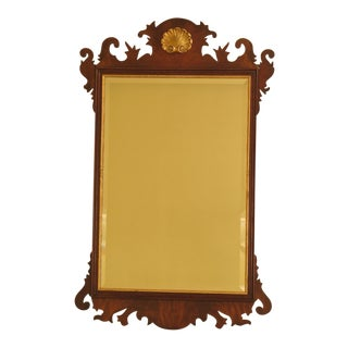 Henkel Harris Chippendale Mahogany Framed Mirror For Sale