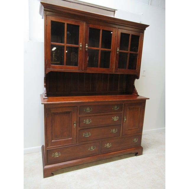 Chippendale Stickley Furniture Cherry Chippendale China Cabinet For Sale - Image 3 of 11