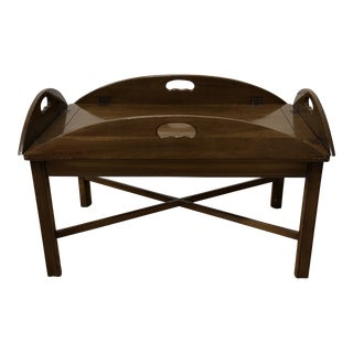 Vintage Chippendale Butlers Tray Formal Coffee Table For Sale