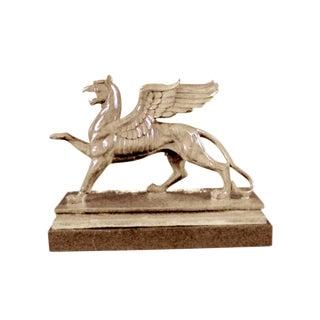 Griffin Bronze & Marble Statue