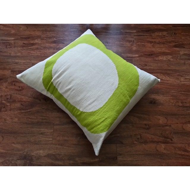 Costa Verde Handwoven Wool Pillow Floor Cushion - Image 2 of 4