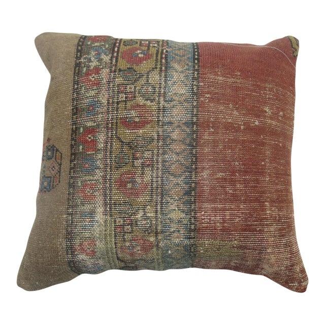 Persian Camel Rug Pillow For Sale