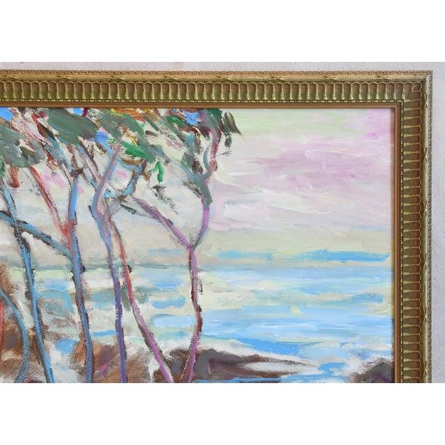 Late 20th Century Juan Guzman, Ventura California Seascape/Landscape Painting For Sale - Image 5 of 10