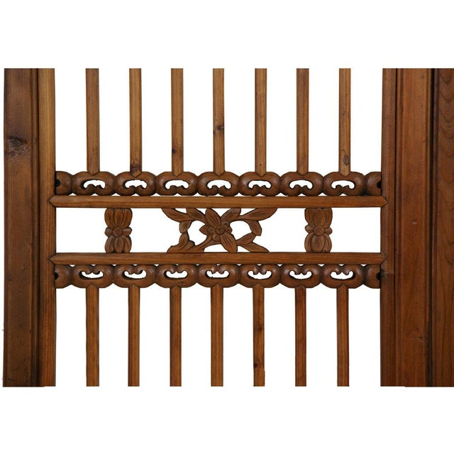 Chinese Antique Carved Window Shutters For Sale - Image 4 of 8