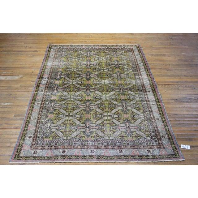 6.7x9.4 Feet Oriental Turkish Antalya Vintage Rug - Image 2 of 9