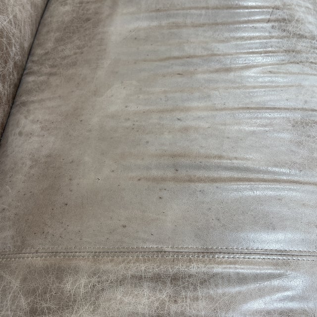 Ralph Lauren Style Cowboy Leather Sofa For Sale In Richmond - Image 6 of 11