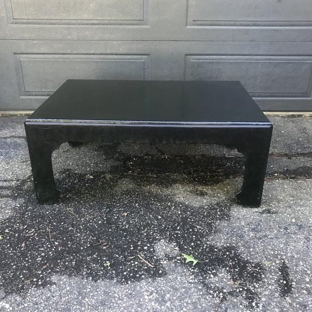 Chinoiserie Green Painted Coffee Table by Baker Furniture For Sale - Image 10 of 10