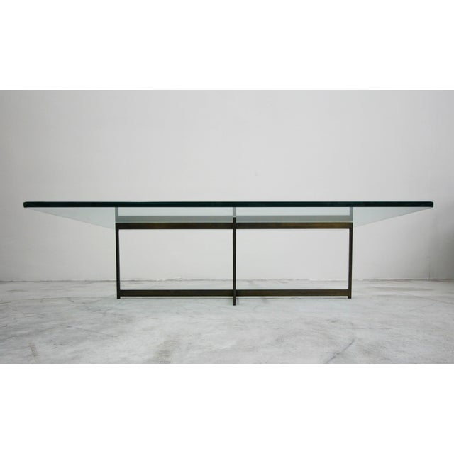 Mid Century Minimalist Italian Bronze Base Coffee Table For Sale In Las Vegas - Image 6 of 10