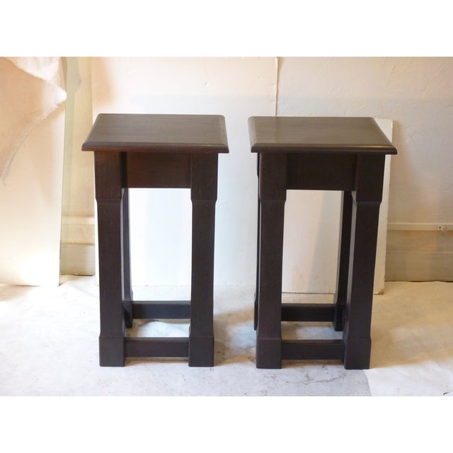 Early 20th Century American Square Pedestals - a Pair For Sale - Image 4 of 6