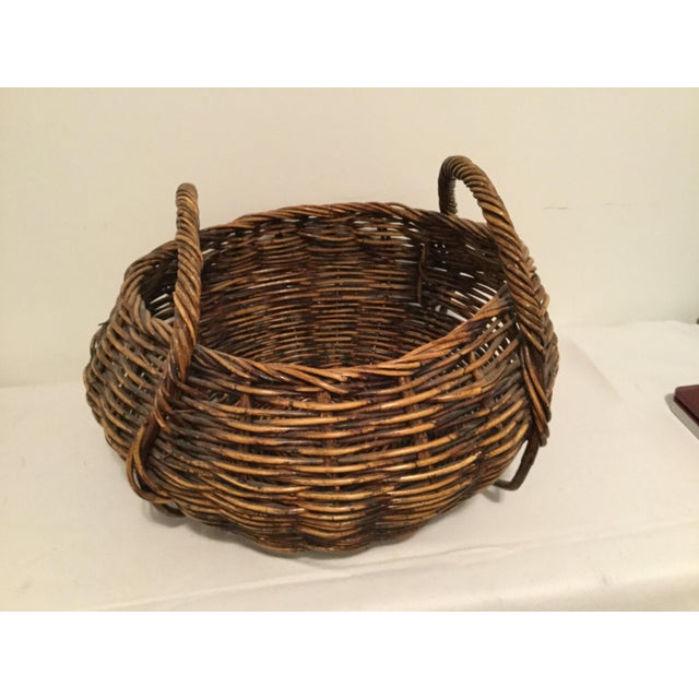 Brown Brown Decorative Basket For Sale - Image 8 of 8