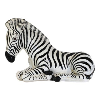 Recumbent Zebra For Sale