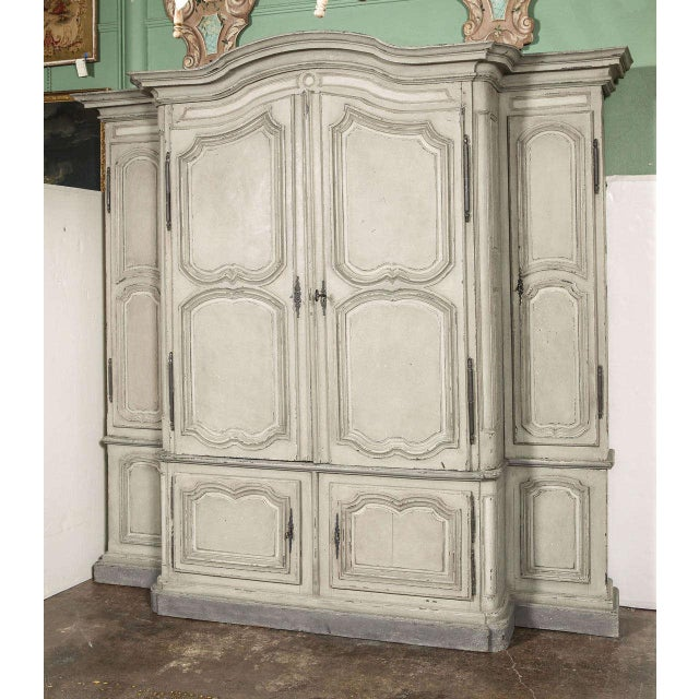 18th Century French Louis XIV Painted Buffet Deux Corps - Image 2 of 10