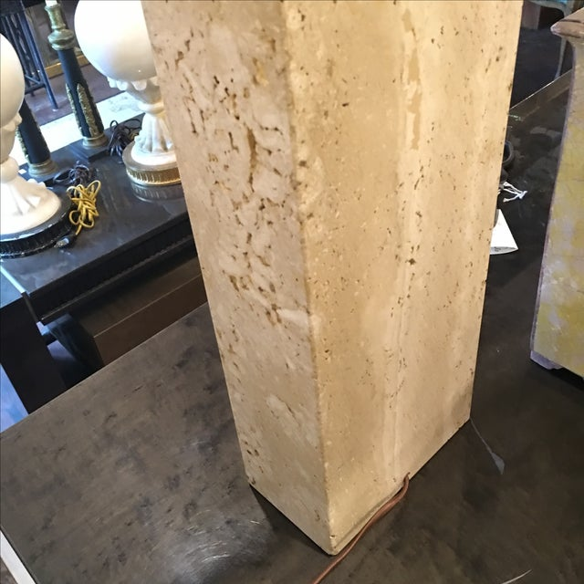 Modern Travertine Table Lamp - Image 8 of 8