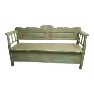 French Country Box Bench For Sale