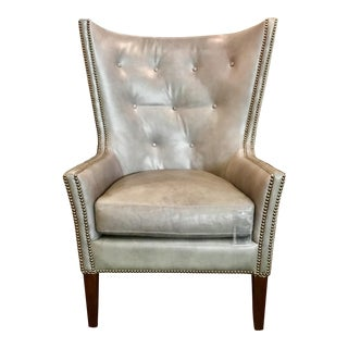 Herndon Aron Wingback Leather Chair