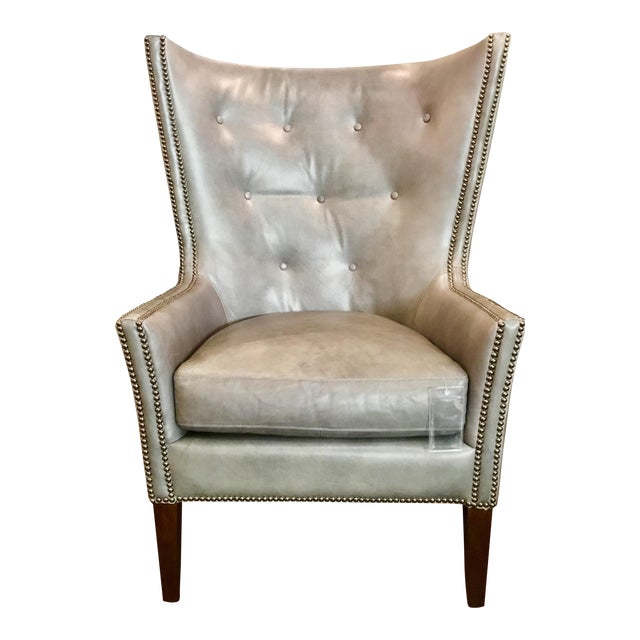 Herndon Aron Wingback Leather Chair - Image 1 of 8