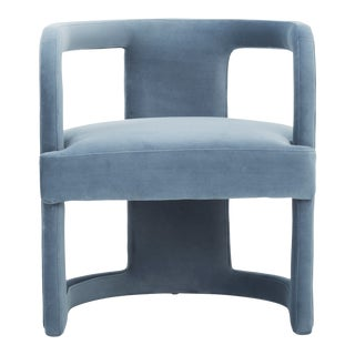 Dust Blue Rory Accent Chair For Sale